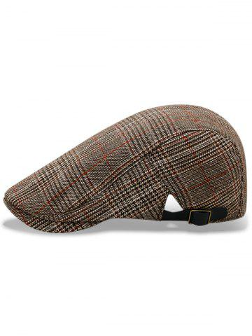 Chic Plaid Flat Cabbie Cap