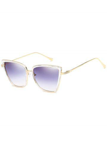Unique Anti Fatigue Metal Frame Catty Sunglasses