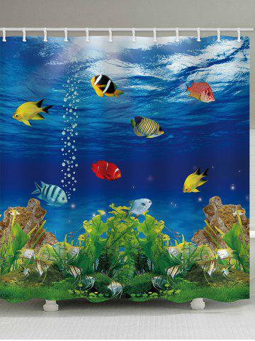 Sale Submarine World Printed Bath Shower Curtain