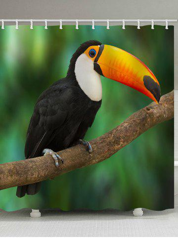 Rideau de douche Tropical Rainforest Toucan Bird