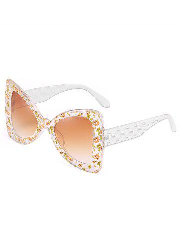 Best Anti UV Faux Pearl Decorated Butterfly Sunglasses
