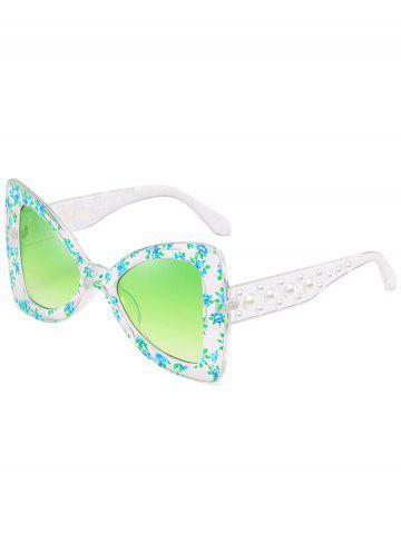 Affordable Anti UV Faux Pearl Decorated Butterfly Sunglasses