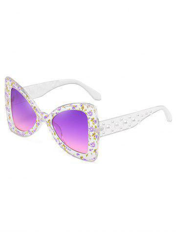 Store Anti UV Faux Pearl Decorated Butterfly Sunglasses