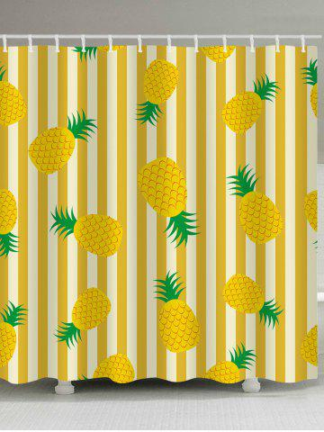 Outfits Stripes Pineapples Printed Shower Curtain Bath Decor