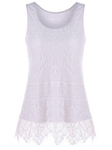 Outfit U Neck Lace Tank Top