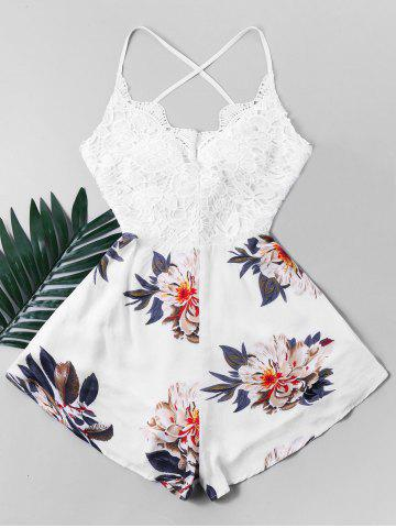 Вязание крючком Criss Cross Bowknot Flower Romper