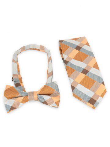 Shop Plaid Pattern Adjustable Bow Tie and Shirt Tie
