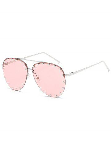 Outfits Anti Fatigue Metal Studs Driving Sunglasses