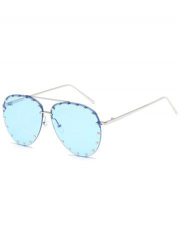 New Anti Fatigue Metal Studs Driving Sunglasses