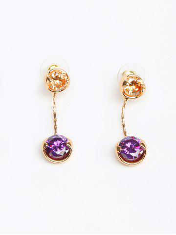 Discount Rhinestone Round Dangle Earrings