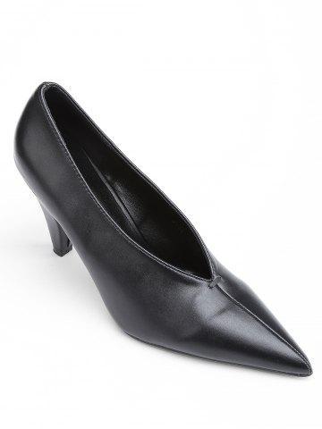 Affordable High Heel Point Toe V Cut Pumps