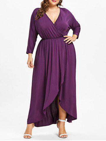 Slit Plus Size Wrap robe haute