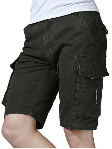 Chic Pockets Decorated Cargo Shorts