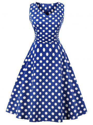Cheap Vintage Polka Dot Party Skater Dress