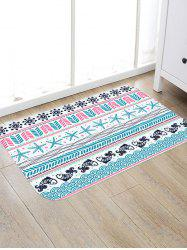 Sea Fishes Starfishes Pattern Skidproof Floor Area Rug -