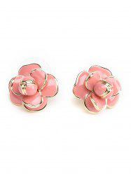 Cute Floral Decorated Stud Earrings -