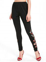 Floral Embroidery Pants -