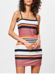 Bodycon Color Block Striped Dress -