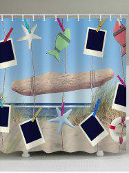 Beach Scenery Hanging Photos Print Shower Curtain -
