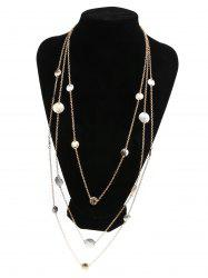Alloy Layered Coins Embellished Chain Necklace -