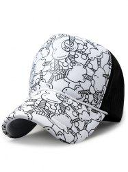 Cartoon Popcorn Pattern Sunscreen Hat -