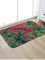 Pineapple and Leaf Pattern Antiskid Rug -