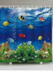 Submarine World Printed Bath Shower Curtain -