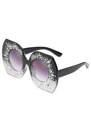 Anti UV Rhinestone Butterfly Sunglasses -