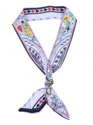 Star Heart Letter Pattern Hair Wrap Bag Handle Decorative Scarf -
