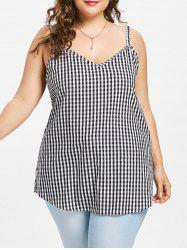 Plus Size Checkered Cami Tank Top -