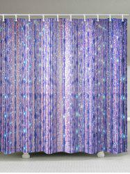 Gleaming Light Printed Shower Curtain -