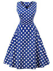 Vintage Polka Dot Party Skater Dress -