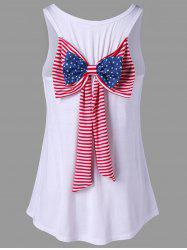 American Flag Bowknot Embellished Racerback Tank Top -