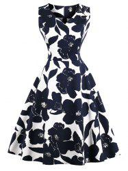 Retro Floral Pin Up Dress -