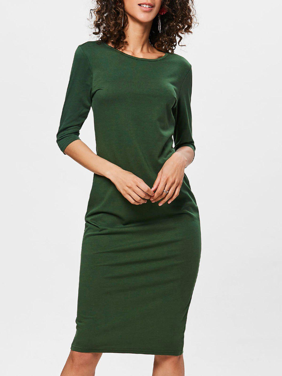 Buy Bodycon Knee Length Shift Dress