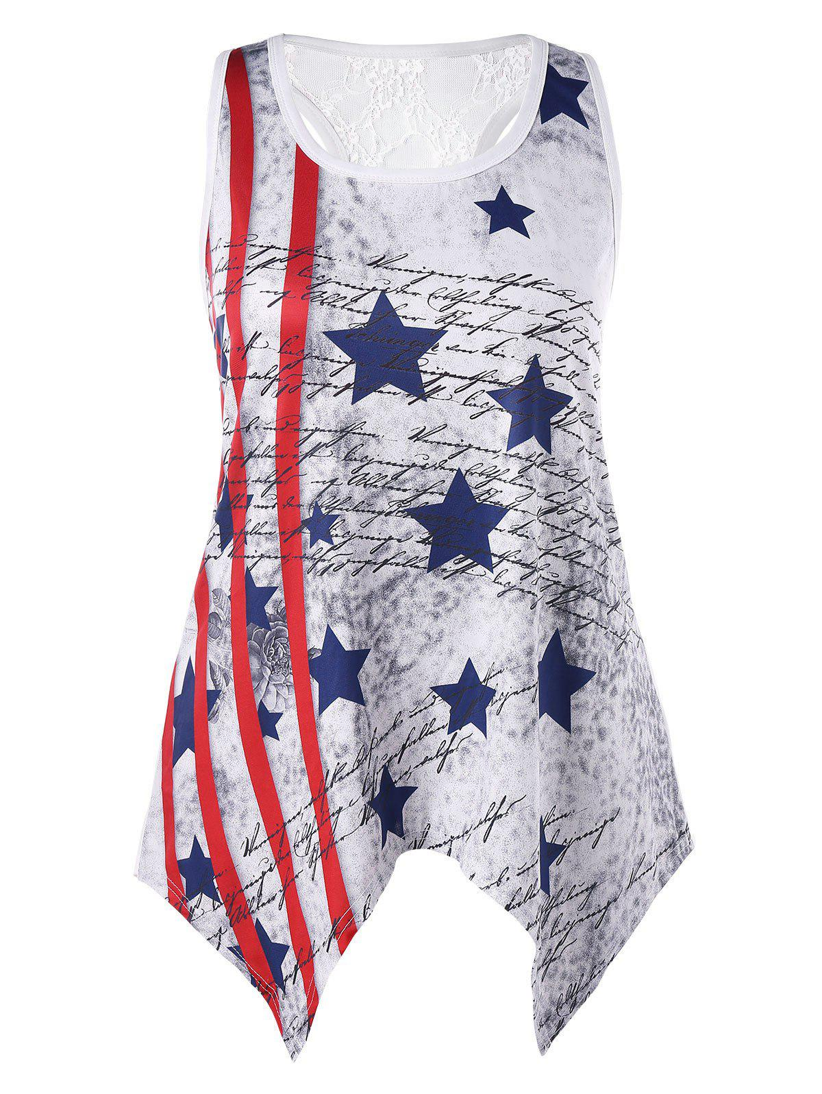 Shop Plus Size Handkerchief Patriotic Tank Top