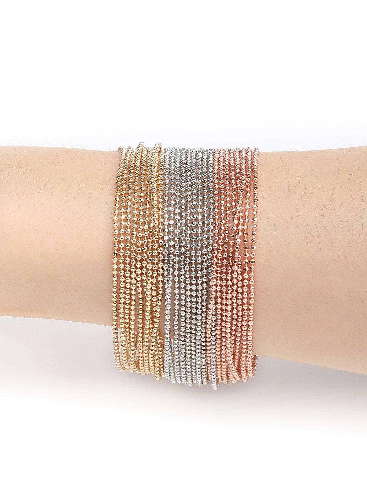 Sale Unique Multilayers Beads Metal Bracelet