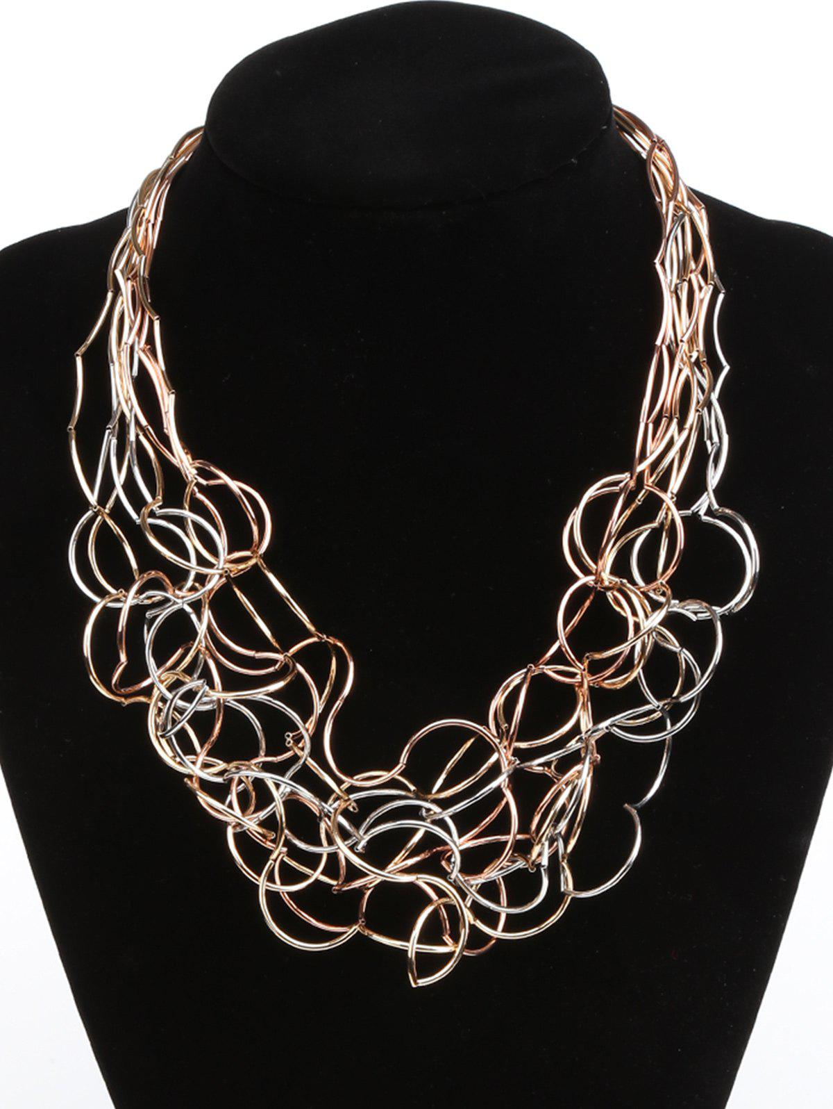 Store Iron Wire Multi Layered Irregular Necklace