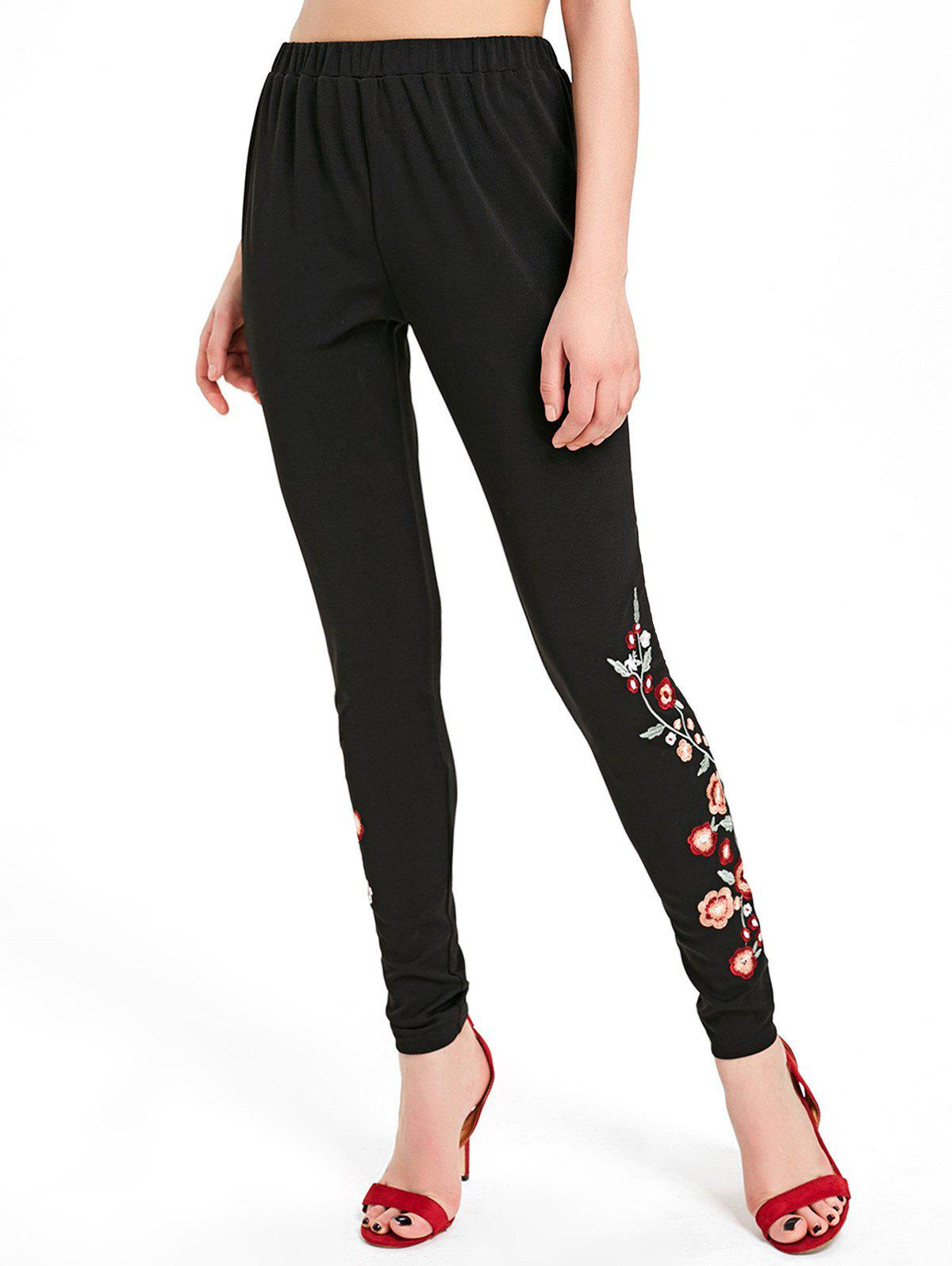 Shops Floral Embroidery Pants
