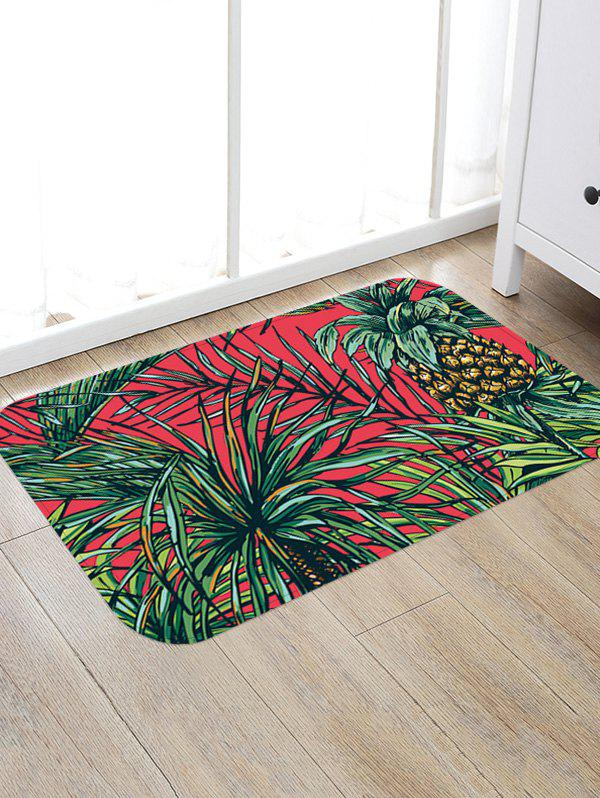 Fancy Pineapple and Leaf Pattern Antiskid Rug