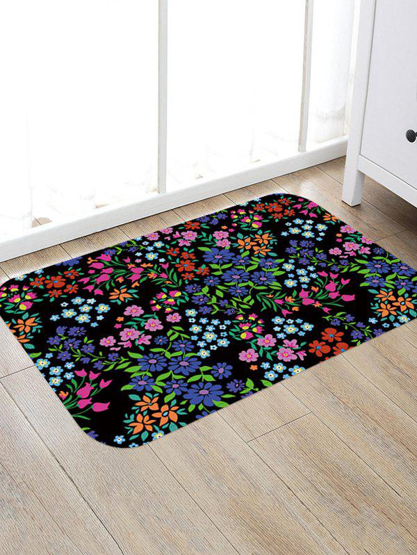 Outfit Colorful Flowers Print Non-slip Floor Rug