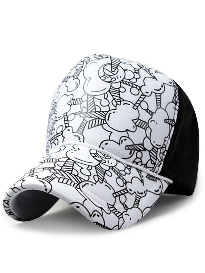 Discount Cartoon Popcorn Pattern Sunscreen Hat