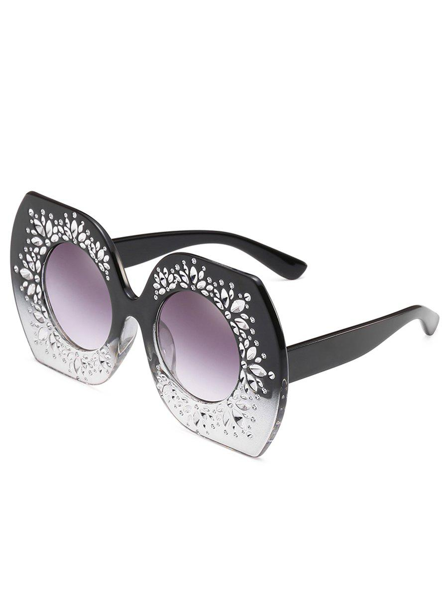 Shop Anti UV Rhinestone Butterfly Sunglasses