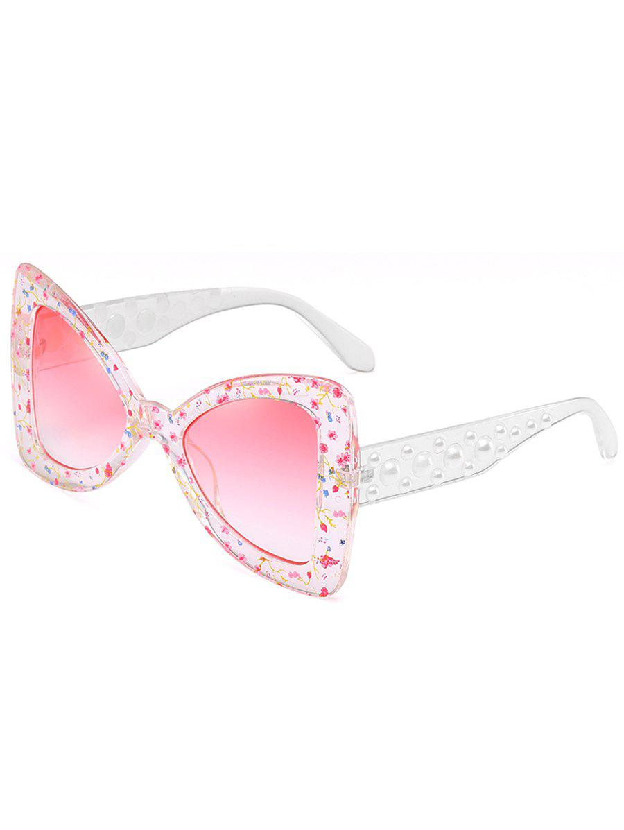 Buy Anti UV Faux Pearl Decorated Butterfly Sunglasses