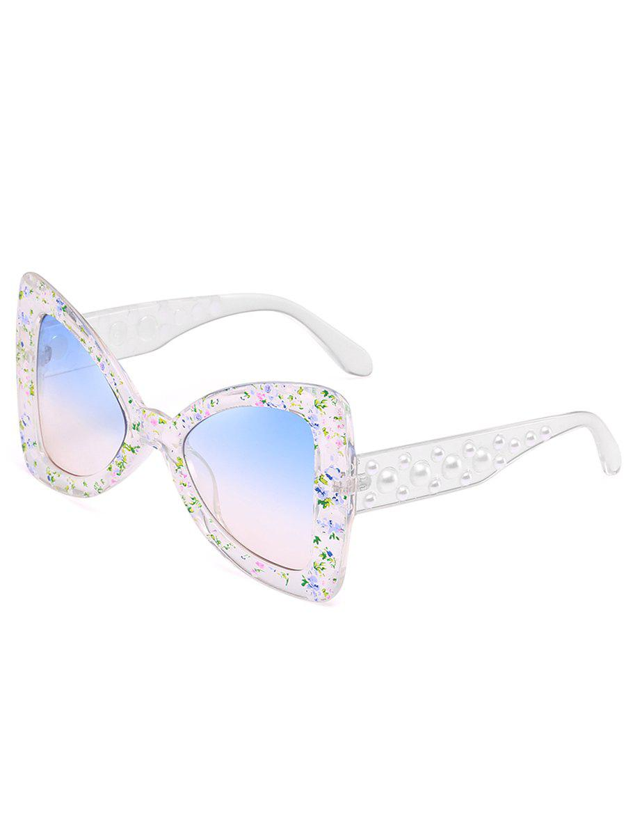 Fancy Anti UV Faux Pearl Decorated Butterfly Sunglasses