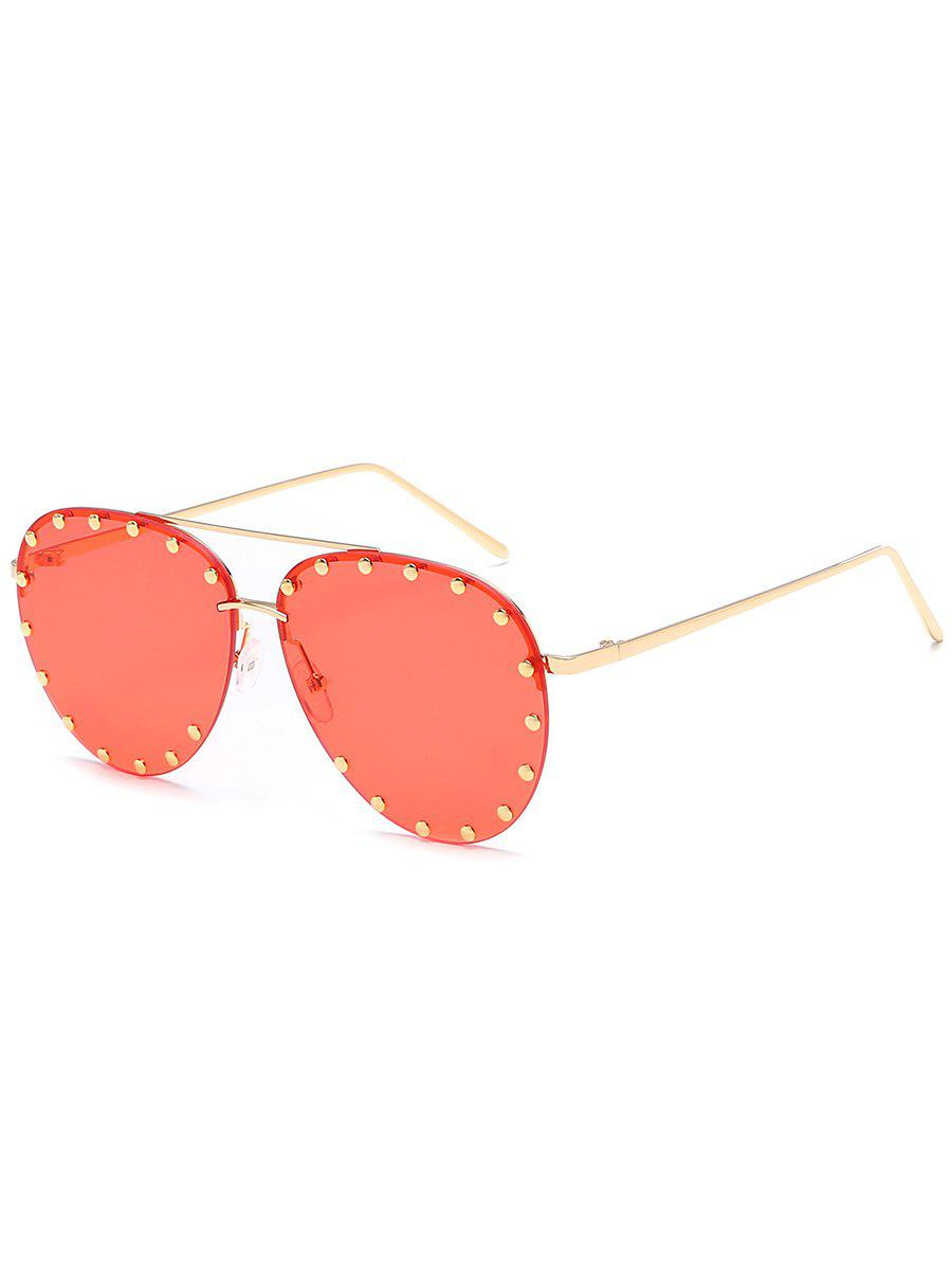 Fashion Anti Fatigue Metal Studs Driving Sunglasses