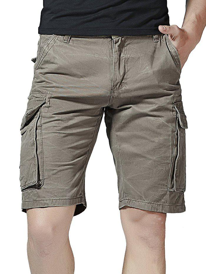 Affordable Pockets Decorated Cargo Shorts