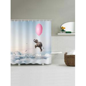 Balloon Elephant Print Waterproof Bathroom Shower Curtain -