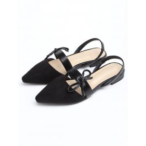 Bow Point Toe Slingbacks Chaussures plates -