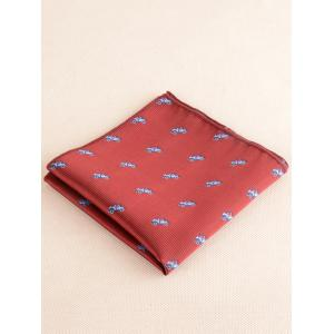 Cartoon Vehicle Necktie Bowtie Handkerchief Set -